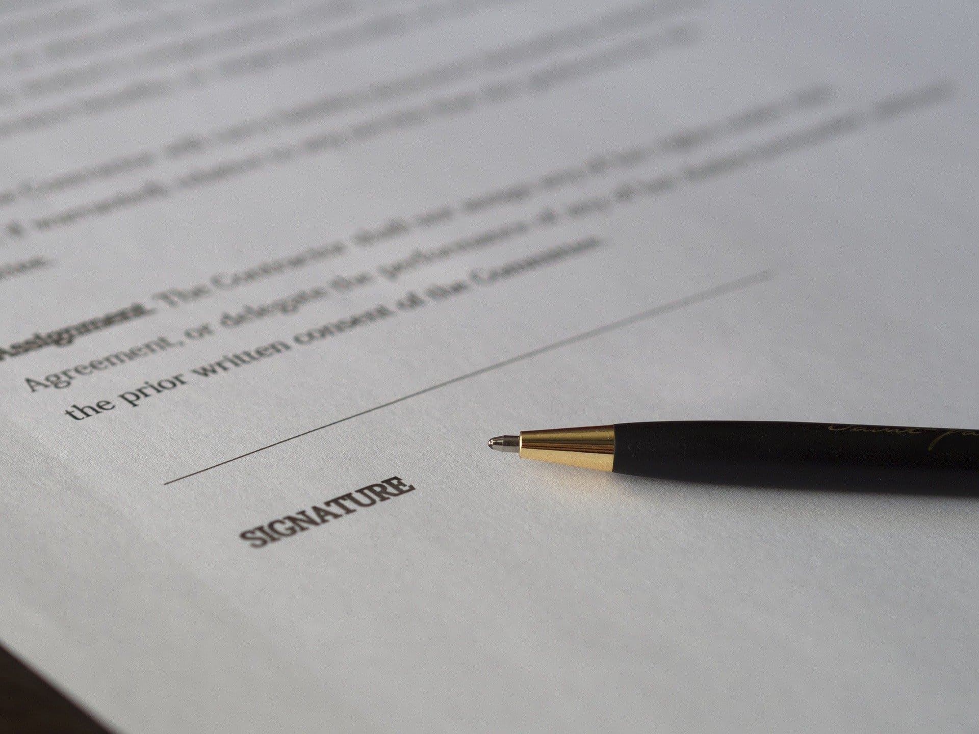 An image of a contract